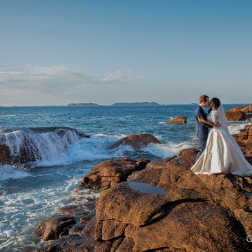 Mariage-Photos de couple à Ploumanac'h (Côtes d'Armor)